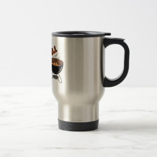 Hot Off Grill 15 Oz Stainless Steel Travel Mug