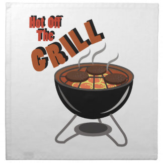 Hot Off Grill Printed Napkins