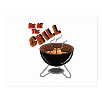 Hot Off Grill Postcard