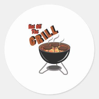 Hot Off Grill Classic Round Sticker
