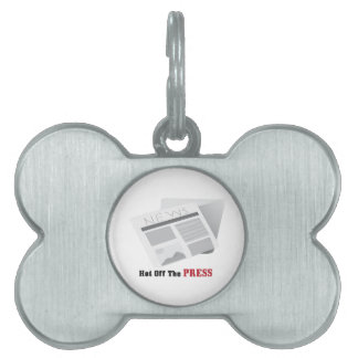 Hot Off The Press Pet Name Tags