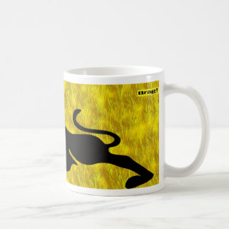 hot or cold beverage yellow mug for coffee  or tea