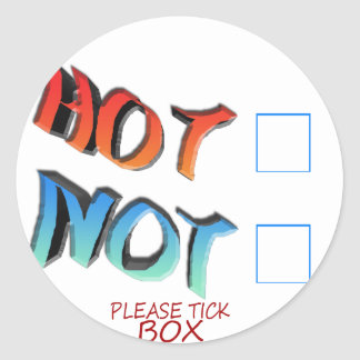 hot or not classic round sticker