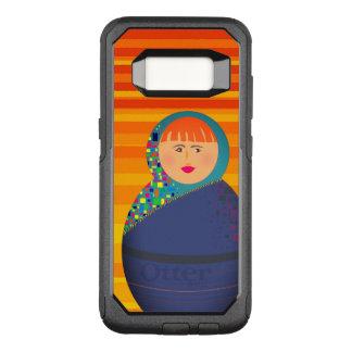 Hot Orange Stripes Cartoon Girl Face Portrait Bold OtterBox Commuter Samsung Galaxy S8 Case