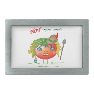 Hot Organic Tomato Rectangular Belt Buckle