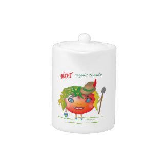 Hot Organic Tomato Teapot