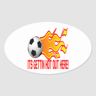 Hot Out Here Oval Sticker