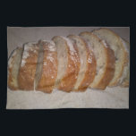 """Hot out the oven kitchen towel<br><div class=""""desc"""">Smelling good and tasty. Hot bread and cheese</div>"""