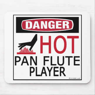 Hot Pan Flute Player Mouse Pad