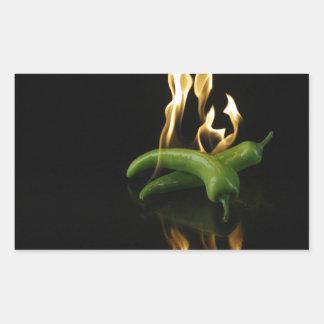 hot-pepper-98945 hot pepper pepper fire food green rectangular sticker