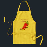 """Hot Pepper Apron<br><div class=""""desc"""">Personalize this chili pepper design with your own name or text using the template,  or click &quot;Customize it&quot; to modify the design further.</div>"""