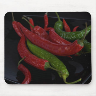 hot pepper_black mouse pad