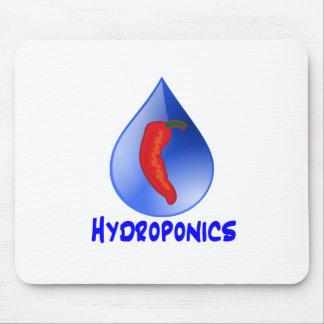 Hot Pepper Blue Drop Blue Text Hydroponics Mouse Pad