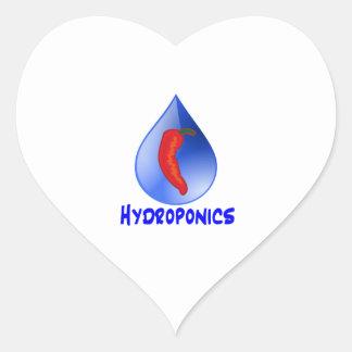 Hot Pepper Blue Drop Blue Text Hydroponics Sticker