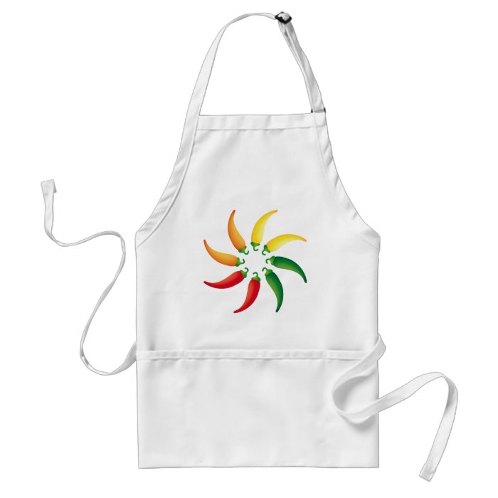 Hot Pepper Chilis Southwest Tex Mex Peppers Adult Apron