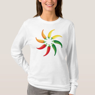 Hot Pepper Chilis Southwest Tex Mex Peppers T-Shirt