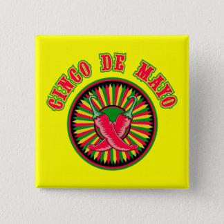 Hot Pepper Cinco de Mayo Button