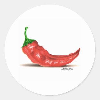 hot pepper classic round sticker