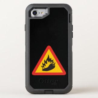Hot pepper danger sign OtterBox defender iPhone 8/7 case