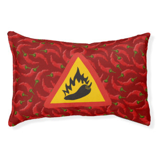 Hot pepper danger sign pet bed