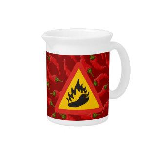 Hot pepper danger sign pitcher