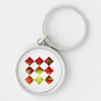 Hot pepper lime diamond tile graphic keychain