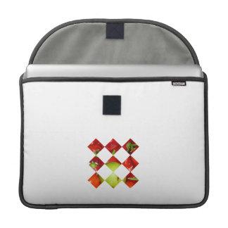 Hot pepper lime diamond tile graphic MacBook pro sleeve