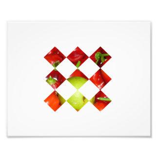 Hot pepper lime diamond tile graphic photo