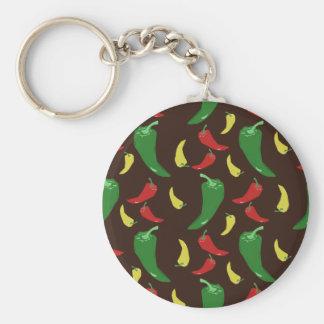Hot Pepper Pattern Keychains