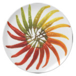 Hot Pepper Rainbow Party Plates