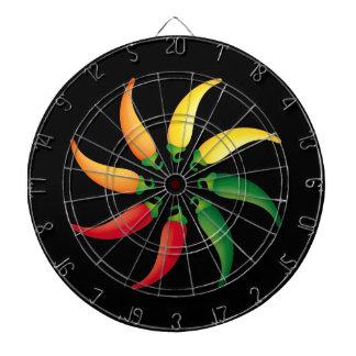 Hot Pepper Wheel Dartboard With Darts