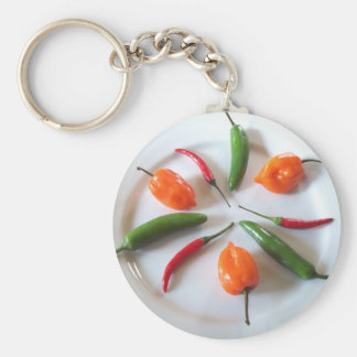 Hot Peppers 3 Keychain