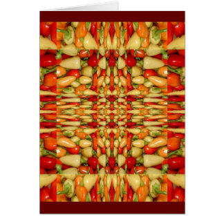 Hot peppers abstract repeat pattern card