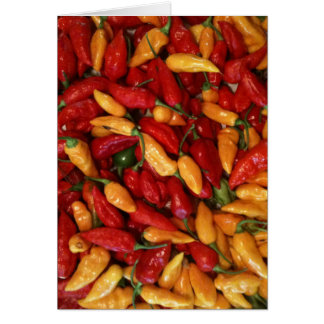 Hot Peppers Card