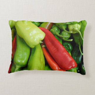Hot Peppers Decorative Pillow