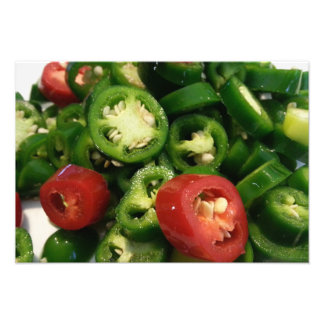 Hot Peppers Fresh Jalapenos Photo Print