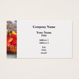 Hot Peppers in Farmers Market Business Card