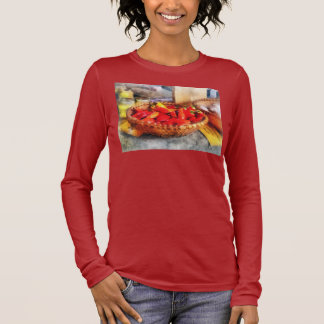Hot Peppers in Farmers Market Long Sleeve T-Shirt