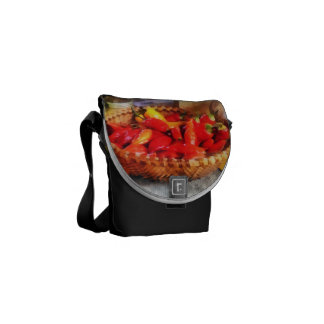 Hot Peppers in Farmers Market Messenger Bag