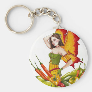 Hot Peppers Keychain