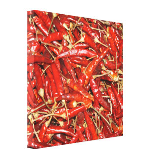 Hot Peppers on Canvas