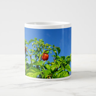 hot peppers on plant sky back 2 giant coffee mug