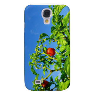 hot peppers on plant sky back 2 samsung s4 case