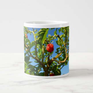 hot peppers on plant sky back large coffee mug