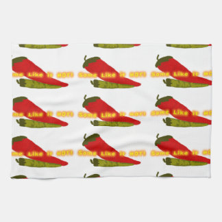 Hot Peppers On White Towel