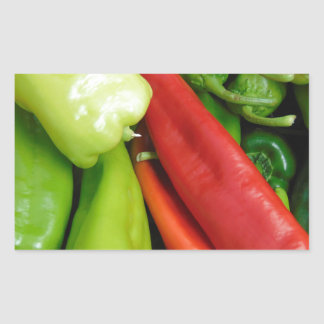 Hot Peppers Rectangular Sticker