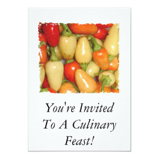 Hot Peppers red yellow orange you're invited! Card