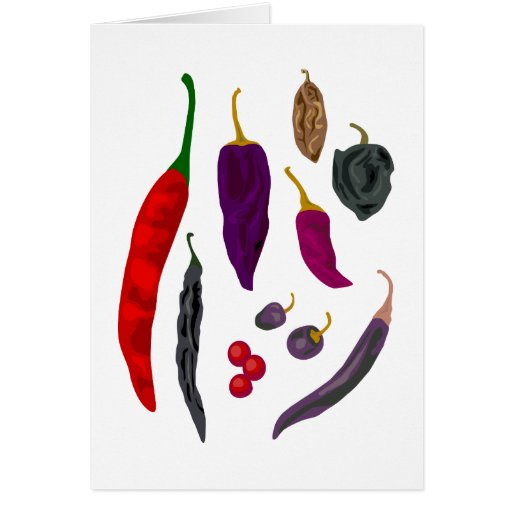 Hot Peppers Spice Greeting Card