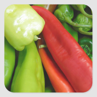 Hot Peppers Square Sticker