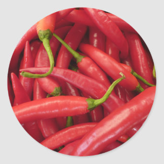 Hot Peppers Classic Round Sticker